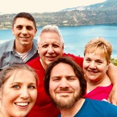Family selfie in Castel Gandolfo
