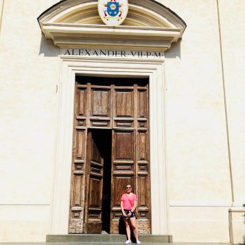 In Front of a Chiesa in the town